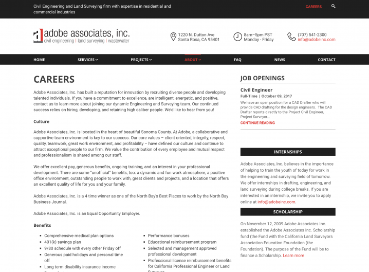 Adobe Inc. Career page