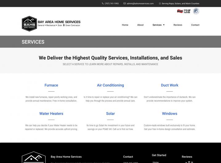 Bay Area Home Services service overview