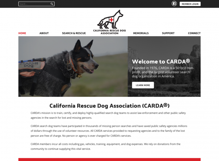 CARDA Home page