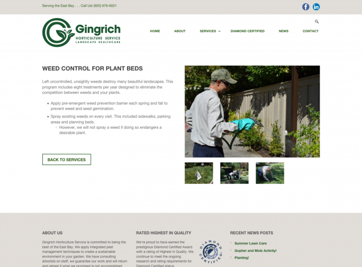Gingrich Horticulture service detail page