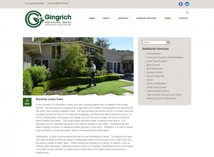 Gingrich Horticulture blog page