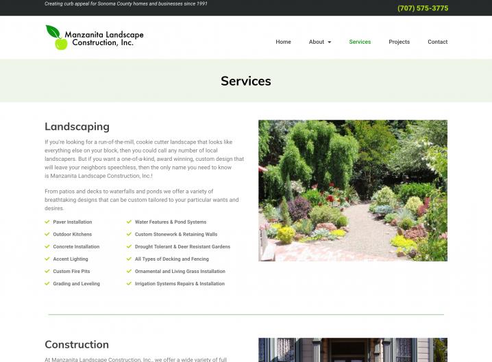 Manzanita Landscape Construction Services