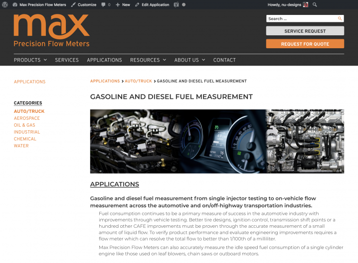 Max Machinery Applications detail