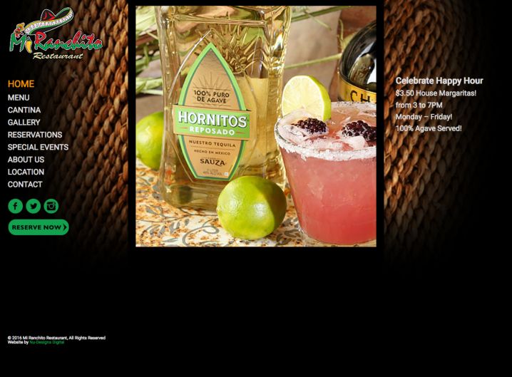 Mi Ranchito Restaurant Home page