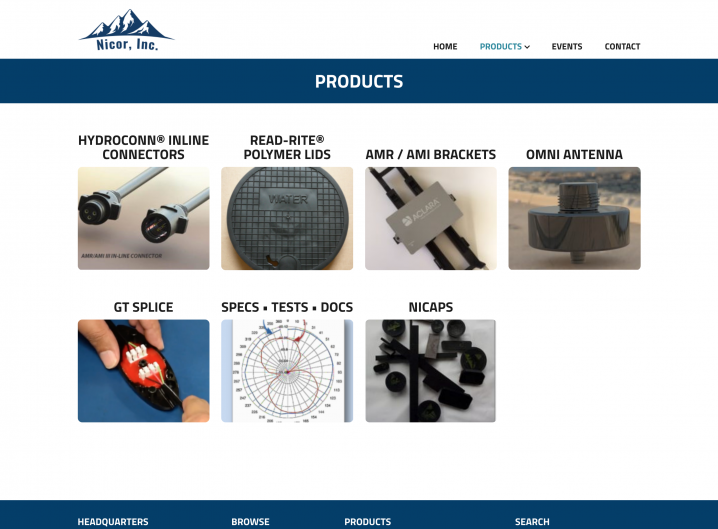 Nicor Inc. product overview page