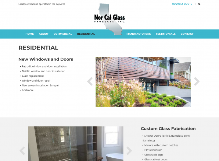 Nor Cal Glass Products residential glass