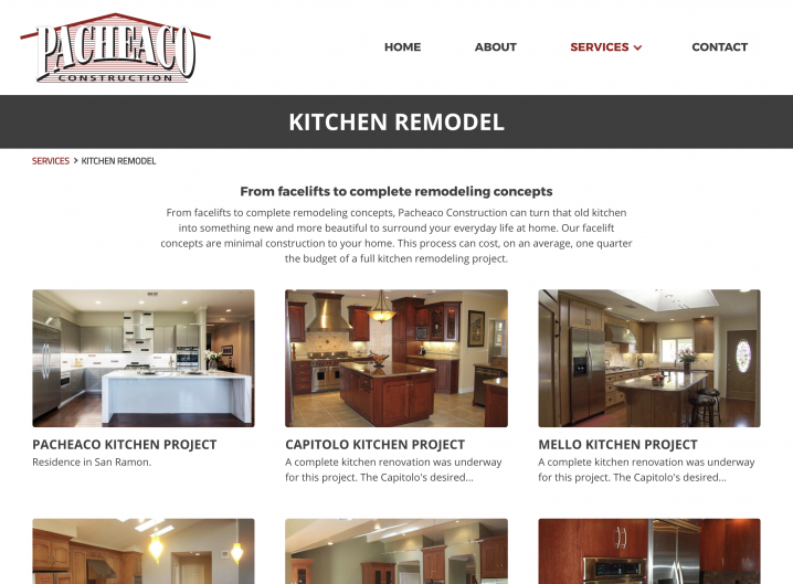 Pacheaco Construction Kitchen Projects overview