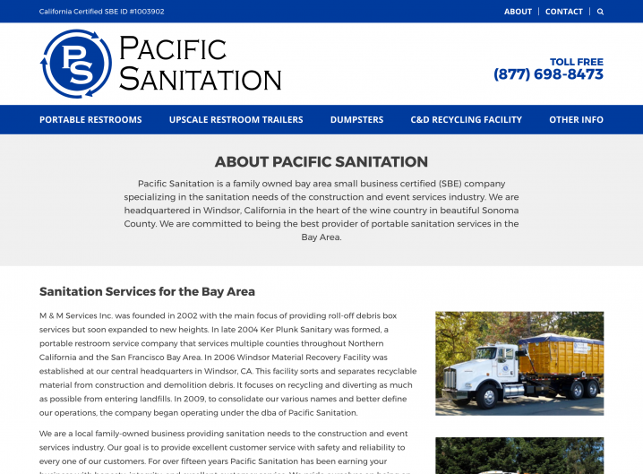 Pacific Sanitation About