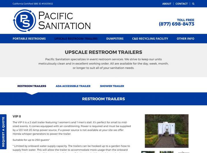 Pacific Sanitation product page