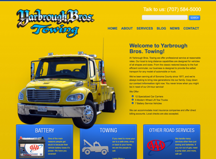 Yarbrough Tow home page