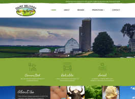 Dairy Delivery Home page