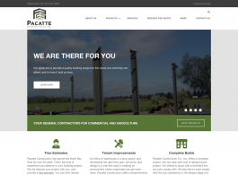 Pacatte Construction Home page