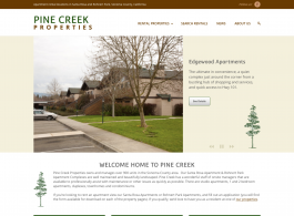 Pine Creek Rentals Home page