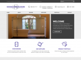Sonoma Shower Doors Home page